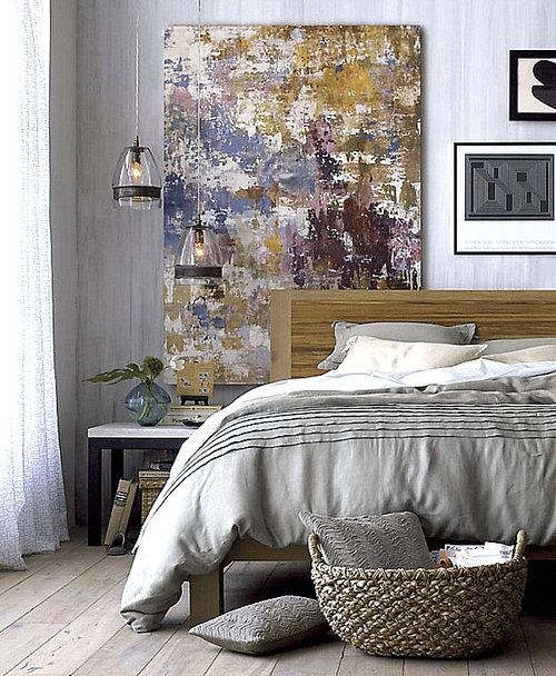 bedroom - painting / hanging lights for bedside tables