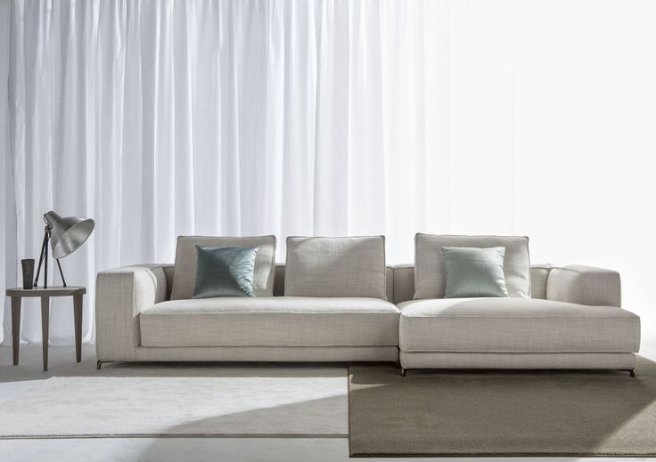 Innovative technologies, cushions soft and comfortable, large proportions and volume - Christian sectional sofa made by Berto in Italy #Berto2014