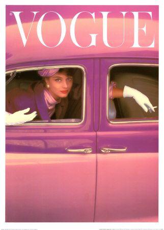 Vogue-omslag, höstfuchsia, 1957
