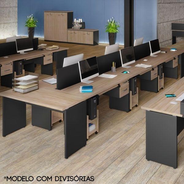 Estação de trabalho Yaris é uma plataforma de trabalho, ideal para quem necessita de conforto, espaço e comodidade para trabalhar no dia a dia, facilitando.