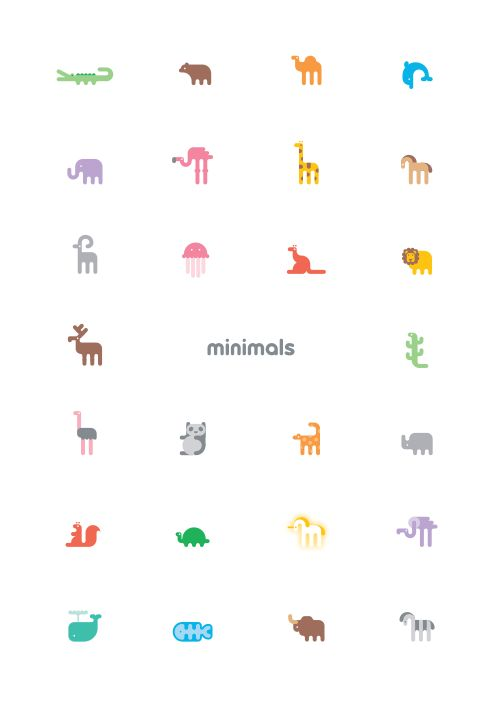 Cute A-Z Poster Of Letters Represented By Minimalist Illustrated Animals