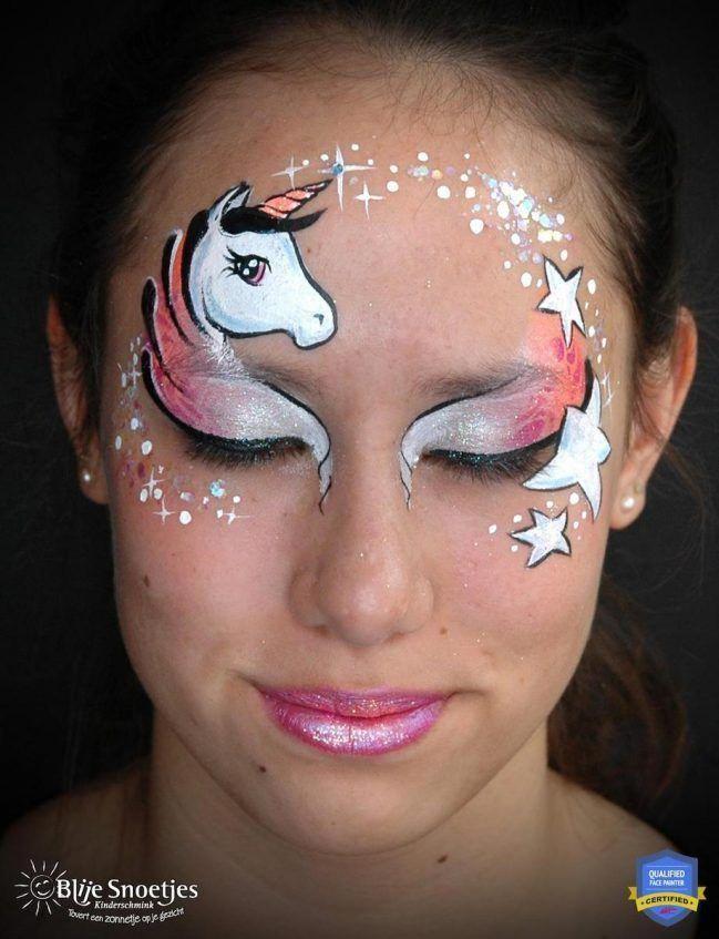 Simple Unicorn Face Paint : simple, unicorn, paint, Unicorn, Paint, Tutorial:, Guide, #facepainttutorial, Halloween, Schminken,, Schminken, Tutorials,, Ontwerpen