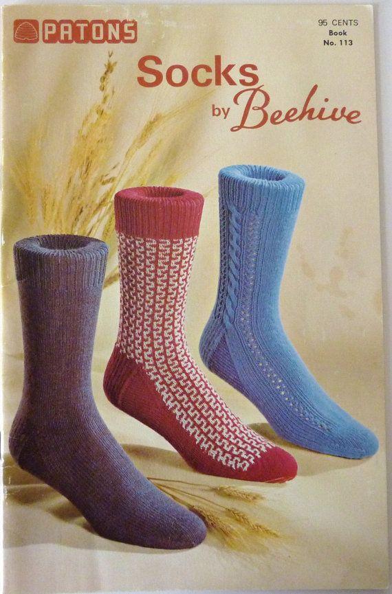 Vintage Patons Socks (Beehive) Pattern Book 113 - Favorite Sock Knitting Patt...