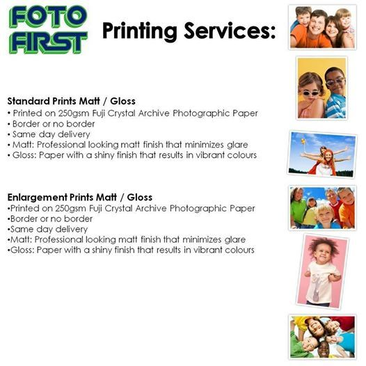 Fotofirst Mosselbay provides the best printing services in town. For your next printing job come to Fotofirst Mosselbay. #printing #services