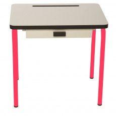 Les Gambettes - Régine child desk - white/raspberry