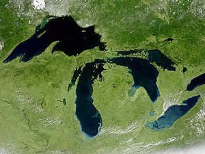Great Lakes aerial photo: North America, Maps, Lakes Superior, History Channel, Great Lakes, Lakes Michigan, Sweet Home, U.S. States, Lakes Erie