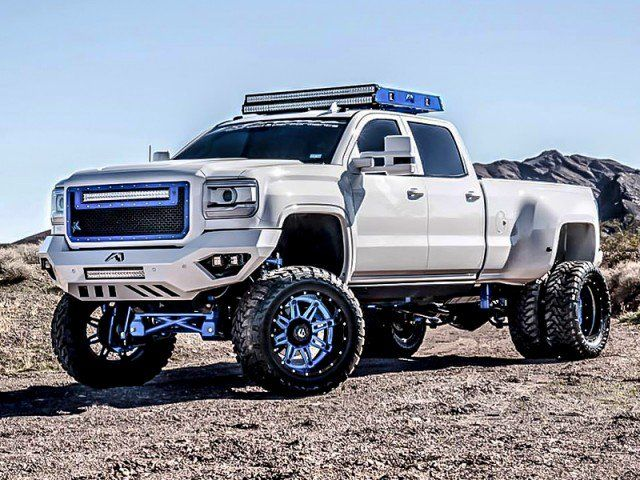 A Truck Equipped With Led Light Bars Lifted Trucks Gm Trucks