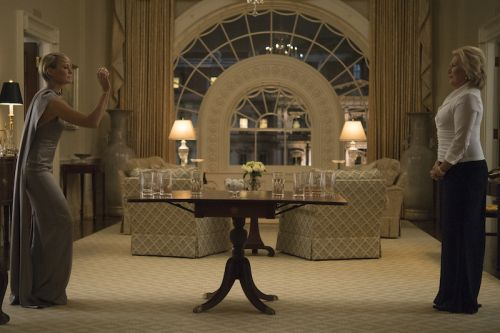 """Robin Wright & Jayne Atkinson in """"House of Cards"""" - West Sitting Hall replica"""