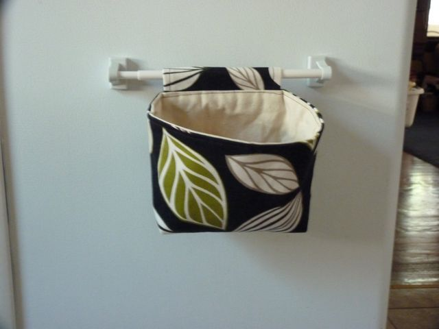 TUTORIAL: Hanging Fabric Basket mounted with magnetic curtain rod- Sewplicity