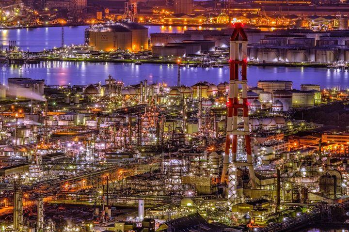 水島コンビナート Mizushima industrial complex