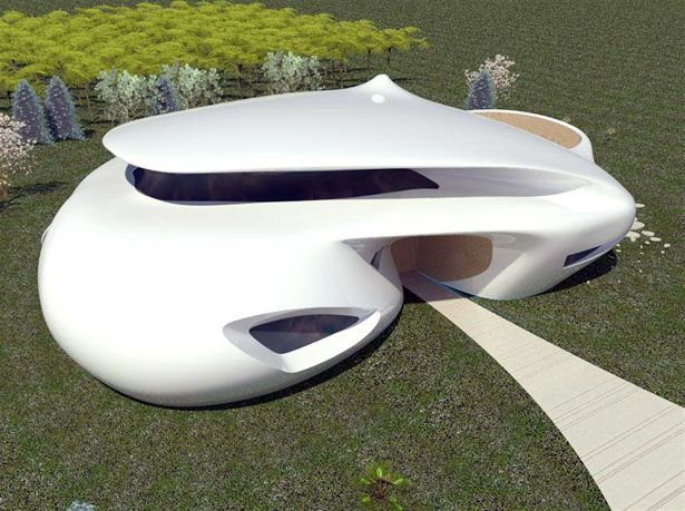 Futuristic House Biomorphism by Ephraim Henry Pavie Architects and Design
