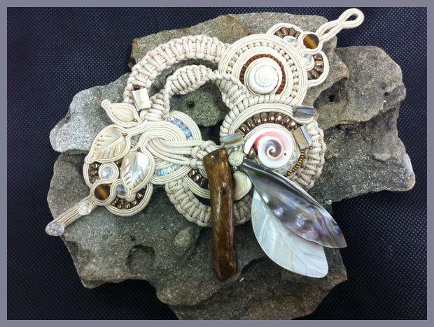 nude colors oversized shell bracelet by Dori Csengeri #DoriCsengeri #statementbracelet #oversized #designermaker
