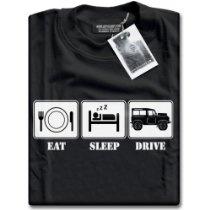 HotScamp Premium Eat Sleep Drive #LandRover Mens Black T-Shirt