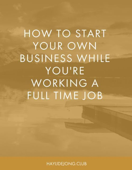 If you've ever dreamed of starting your own small business but are stuck working at a full time day job, then this blog post is for you. Click through to read about the steps that you can take NOW while you're still working at a full time job to get your side hustle started. Online entrepreneurs | Small Business Online | Start a business while working full time | Start your side hustle | Start a business online | start a home business | work from home #entrepreneur #onlinebusiness…