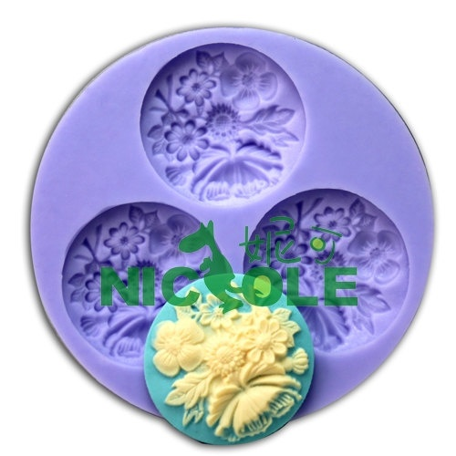 F0065 3-hole Mini Molds Silicone Molds for Resin Flower Molds Jewlery Molds Silicone Molds for Expoxy Craft Silicone Soap Molds. $3.80, via Etsy.