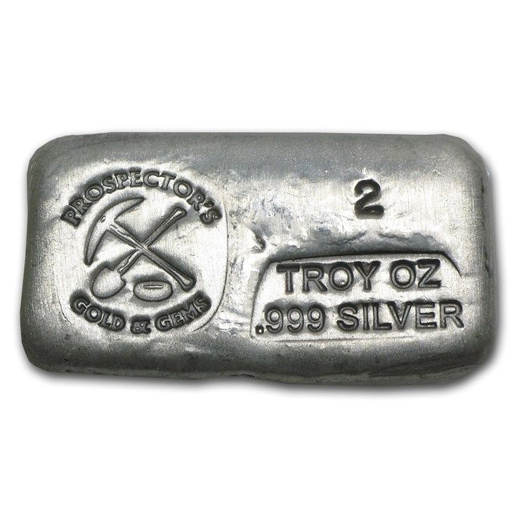 2 oz Silver Bar - Prospector's Gold & Gems