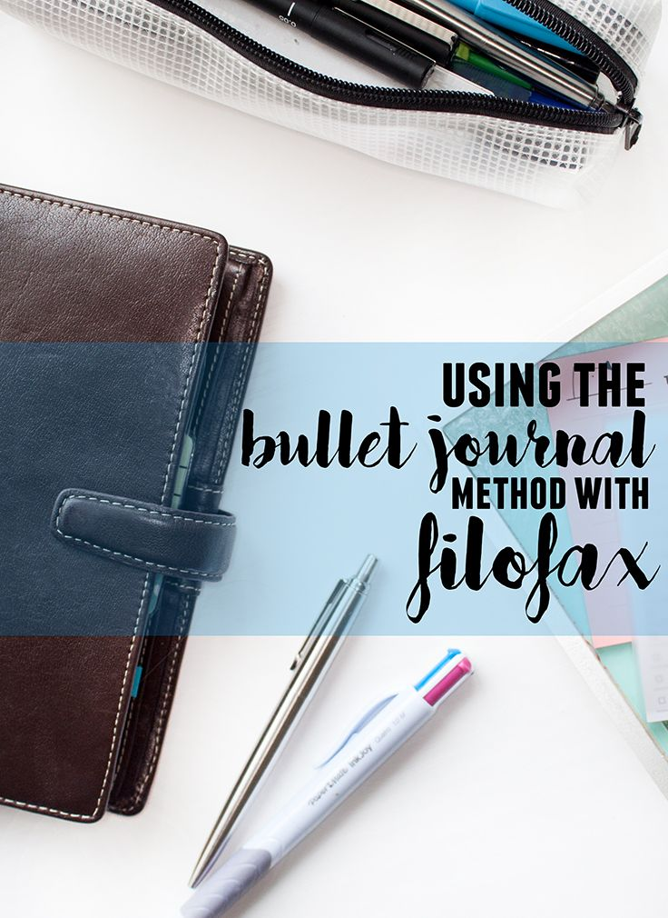 Using the Bullet Journal Method with Filofax | lifeofkitty.co.uk  I've got the freedom of the bullet journal, with all the freedom that Filofax brings. I like the option to move pages and with a notebook you can't do that.