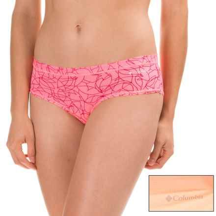 Columbia Sportswear Micromesh Panties - 2-Pack, Hipster (For Women) in Peach Whip/Black