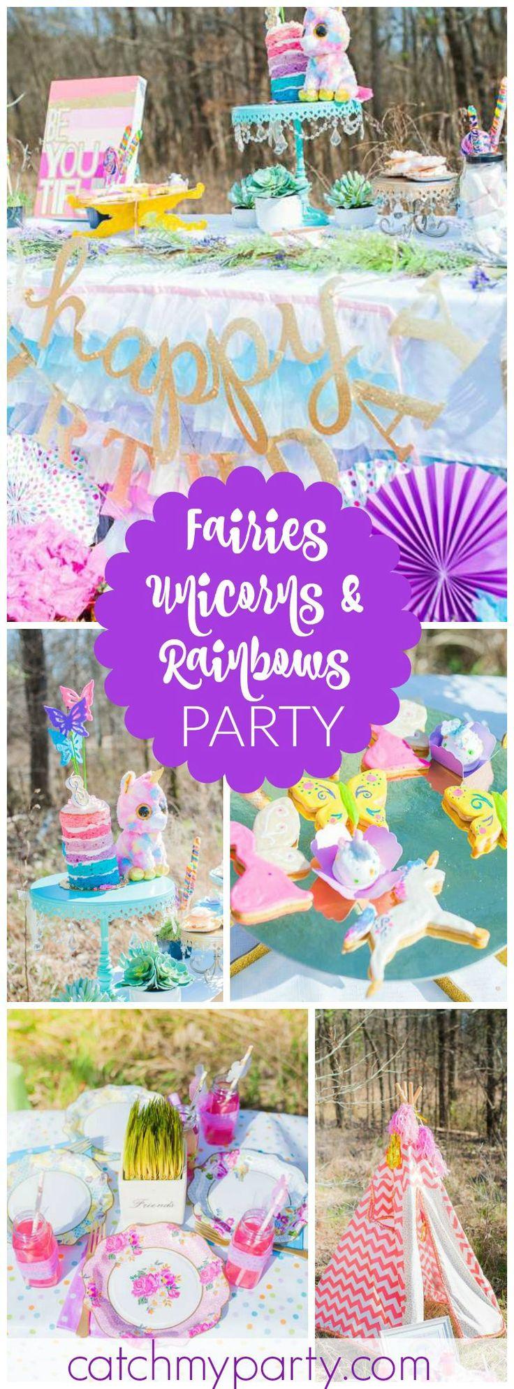 Fairies, Unicorns & Rainbows Party / Birthday