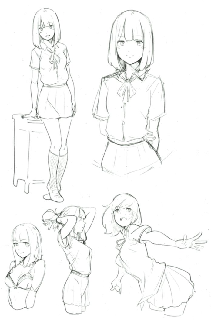 Anime High School Girl Drawing 1000 Ideas About Anime School Girl On Pinterest Animeart Animeartschool Manga Drawing Anime School Girl Anime Sketch