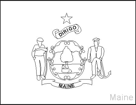 100 best images about happy me day 3 15 1820 on for Maine flag coloring page