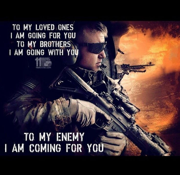 i will make this world safe for my loved ones military