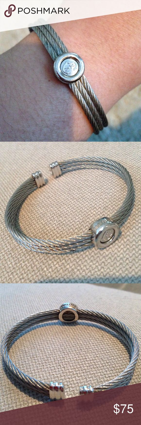 Philippe Charriol cable bangle bracelet Classic bracelet at a bargain price! Authentic - just don't wear it anymore. Philippe Charriol Jewelry Bracelets