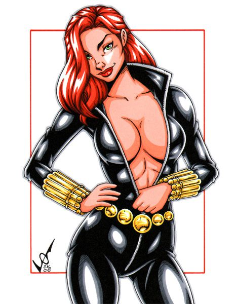 Blackwidowspycommissionbygb2K  Black Widow Marvel -4544