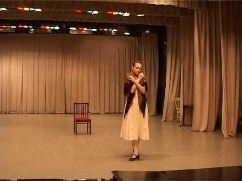 Yulia Stepanova 1st Ever Vaganova Acting Exam Autumn 2006 - YouTube