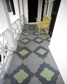 Beautiful painted porch! Design House Week: The 2012 Richmond Symphony Orchestra League Designer House, Pinifer Park