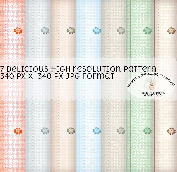 7 delicious pattern for any use http://graficscribbles.blogspot.it/2015/11/PATTER-TEXTURE-BACKGROUND.html