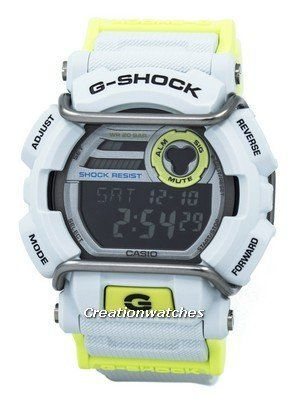 This G-Shock has an extra protection for its dial, for its meant to handle the bangs and bumps of the rough way of life. But then again, its bright, neon colour scheme makes it suitable for the fashion highways and wild party nights, where the protector comes handy and useful once again. A cool, pop look with all the G-SHOCK goodness!