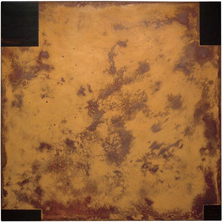 Rust Painting Lt 37 by Amer www.amer-art.com #rustpainting #artonsteel #artonmetal #patinaart #rustart #amerrust