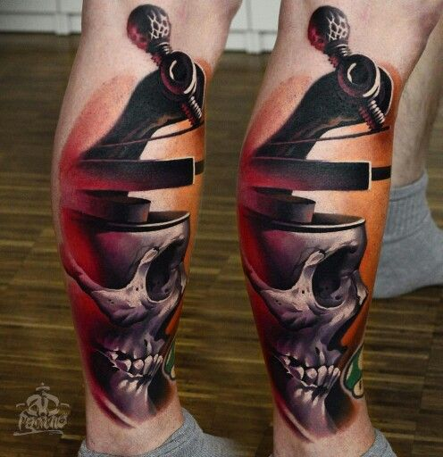 Surrealistic Skull Tattoo by A. D. Pancho Official