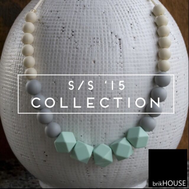 brikHOUSE Clothing's 100% Food-Grade Silicone Teething Necklaces. Modern. Chic.