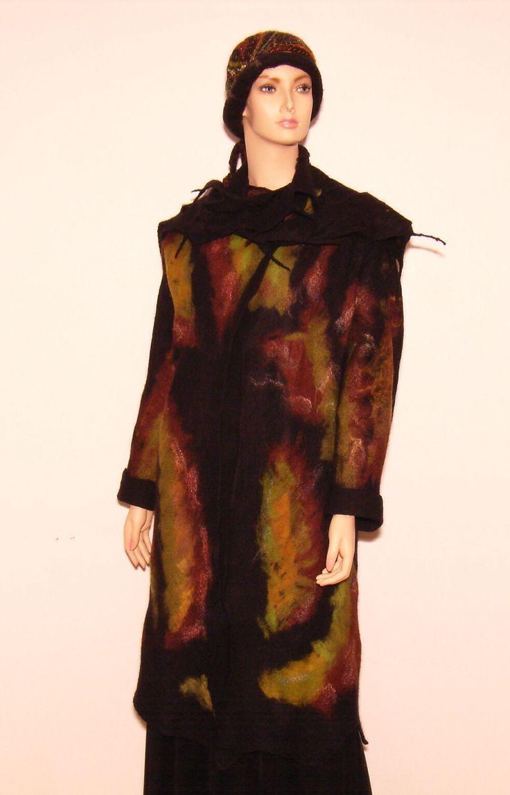 Judith's felting. Coat. On the Wilde side.