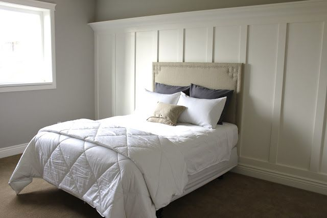 Moulding Behind Bed Board Batten Wainscoting Moldings Etc Pinterest Diy Headboards