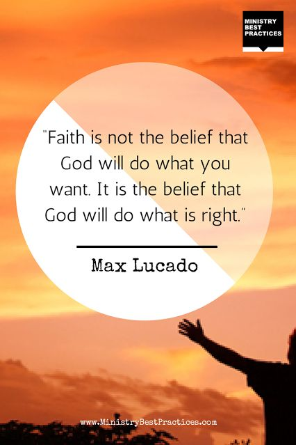 Max Lucado #quote on #faith -