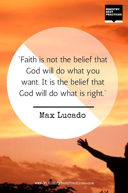 Max Lucado #quote on #faith -                                                                                                                                                      More
