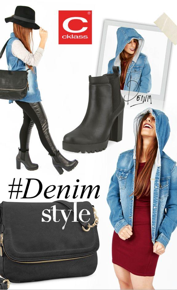 La tendencia del denim multiplica su poder este otoño y las celebridades han puesto esta tendencia en el ojo del huracán, luce esta tendencia como una fashionista con #Cklass combinando tu look con una camisa de denim con botines y pantalon de cuero. #LeatherJeans #DenimShit #pantalones de cuero #estiloUrbano #Otoño