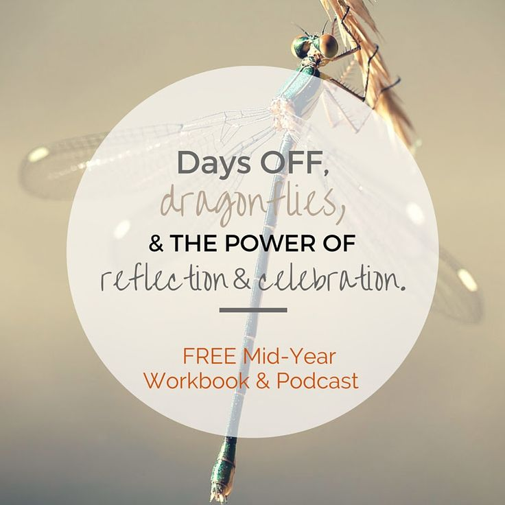 DAYS OFF, DRAGONFLIES & THE POWER OF REFLECTION & CELEBRATION. {YOUR FREE MID YEAR REVIEW WORKBOOK & PODCAST}