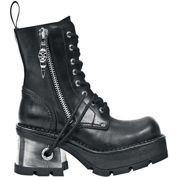 New Rock Boots ($210) ❤ liked on Polyvore featuring shoes, boots, rock boots, goth boots, gothic boots and rock shoes