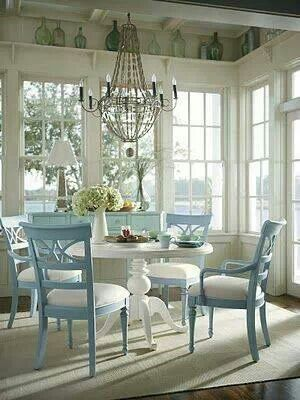 Blue Chairs. . .for some reason I love this!  It simply wouldn't go though!