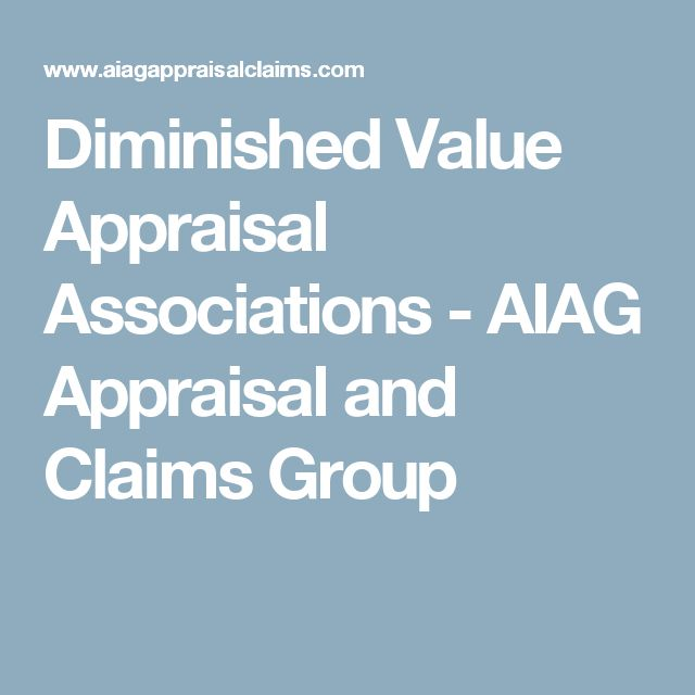 Diminished Value Appraisal Associations - AIAG Appraisal and Claims Group