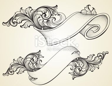 Curled Scroll Banners Royalty Free Stock Vector Art Illustration