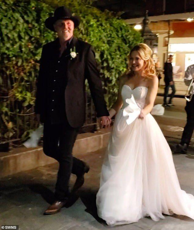 Trace Adkins and his bride Victoria Pratt were seen