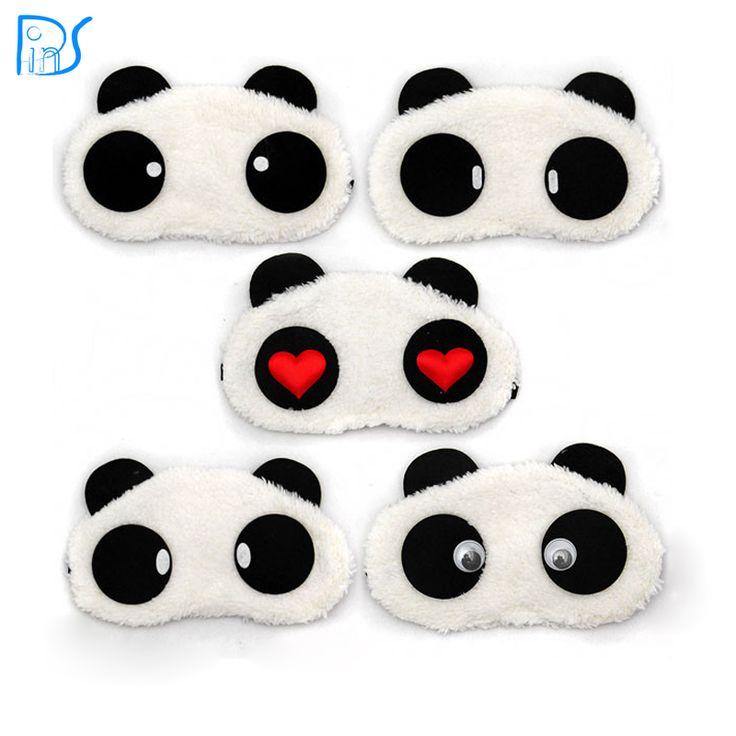 Бесплатная доставка панда спальные маска для глаз сон для глаз тени мультфильм с завязанными глазами сна глаза обложка спящая путешествия отдых патч блиндер купить на AliExpress