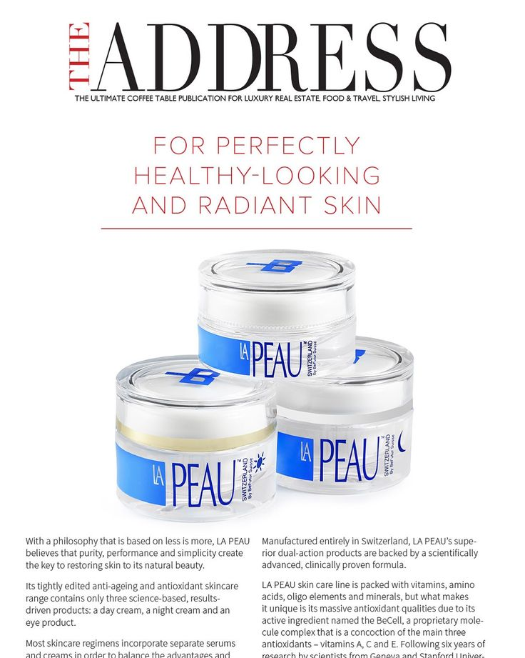 "After a few months of daily use, my skin was the most healthy and radiant it has ever been. It looks dramatically firmer and more plumped, whilst wrinkles appear less pronounced. Plus, my skin does not feel dry at all. Indulge skin with the amazing skincare range from LA PEAU. It works like magic."", says the editor THE ADDRESS MAGAZINE 🇨🇭🌹"