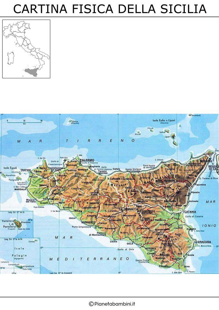 Sicilia Settentrionale Cartina.Sicily Sicilia Map World Map Italy