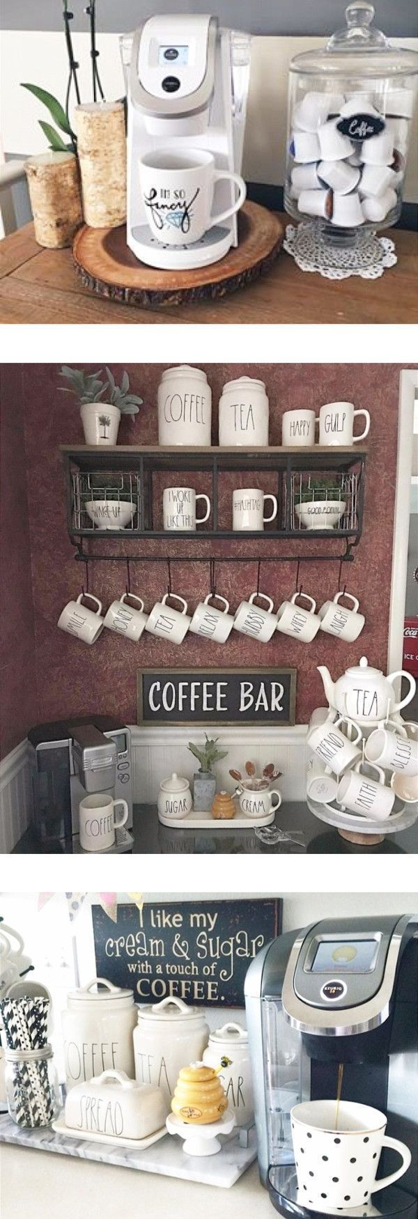 DIY Coffee Pub Ideas – Stunning Farmhouse Style Beverage Stations for Small Spaces and Tiny K…